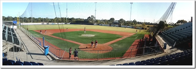 Batting practice at Melbourne Aces