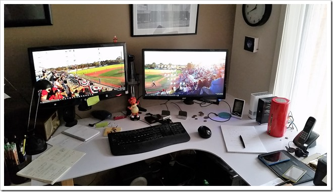 My work desk.